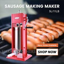 Hakka 5l 11lbs Sausage Stuffer 2 Speed Stainless Steel Sausage Filler Meat Press