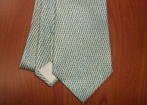Hermes Paris Geometric Print Pure Silk Tie ~NEW~ France