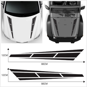 "2Pcs 4.5""x31.5'' Sport Stripe Vinyl Decals Graphics Sticker For Car Truck Hoods"