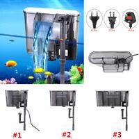 Aqua Aquarium Fish Tank Hang On External Waterfall Water Filter Shrimp Plastic