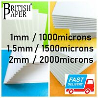 A4 A3 A2 BACKING BOARD MOUNT CRAFT CARD PAPER SHEETS 2mm GREYBOARD 1mm CARDBOARD