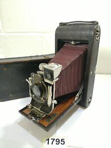Kodak No3-A folding pocket model B-2 folding bellows Film camera vintage #1795