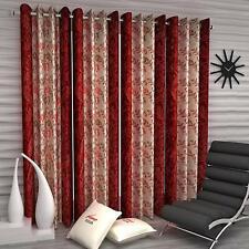New 4 Piece Eyelet Door Curtain Set - 7 feet Maroon