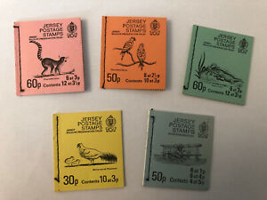 Jersey Postage Stamps 'Jersey Wildlife Preservation Trust' x 5 Postage Books