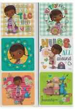 "30 Doc McStuffins Glitter Stickers, 2.5""x2.5"" each, Party Favors"