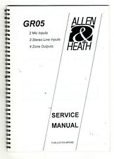 ALLEN & HEATH - GR05  SERVICE MANUAL   ( ORIGINAL BOOK )