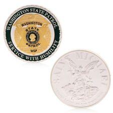 Saint Michael Washington State Patrol Commemorative Challenge Coins Collection