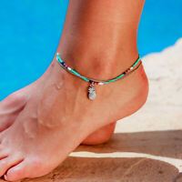 Fashion Women Pineapple Bead 2-layer Ankle Foot Jewelry Summer Accessories Gift