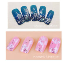 3D Nail Art Nail Stickers Decal Tips White Xmas Reindeer Feather Self-adhesive