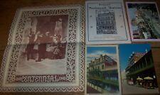 Lot Vintage Restaurant Antonie Menu Postcards Advertising Paper New Orleans La