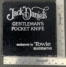 Excellent VINTAGE JACK DANIELS GENTLEMAN's POCKET KNIFE , By TOWLE SILVERSMITHS