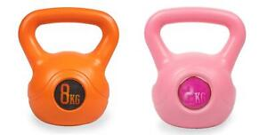 2/4/6/8KG Kettle Bells Vinyl Weights for Fitness Gym Home Workout