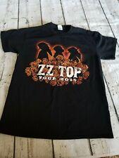 Zz Top Tour 2015 Rock Band Concert T-Shirt Size Medium Black
