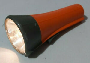 RETRO - 1970S EVER READY HAND TORCH ~ WITH ORANGE PLASTIC CASEING - FAB CONDISH