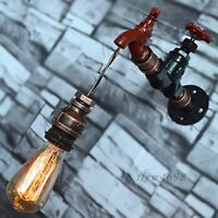 Vintage Industrial Steampunk Retro Iron Pipe Wall Light Lamp Sconce Fixture Loft