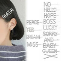 Shining Crystal Rhinestone Letter Hair Clip Barrette Stick Hairpin Accessories~~