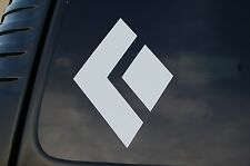 Black Diamond Sticker Vinyl Decal Die Cut Hiking Rock Climbing Window Truck V349