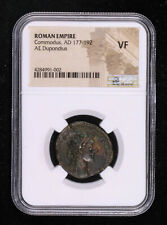 COMMODUS DUPONDIUS 177 - 192 AD ROMAN EMPIRE ANCIENT COIN TWO CAPTIVE SLAVES ...