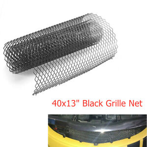 40x13'' Black Rhombus Aluminum Grille Net Mesh for Car Front Bumper Fender Hood