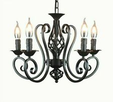 Hanging Lamp Chandelier Chain Light Fixtures Home Living Room Shade-less Vintage