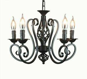 Hanging Lamp Chandelier Chain Light Fixtures Lamp Living Room Shade-less Vintage