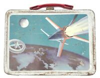 Vintage 1958 Thermos Spaceship Astronaut Rocket Lunchbox Space Exploration