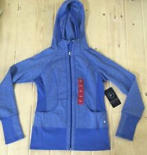 NWT Womens ACTIVE LIFE Royal Blue Full Zip Hooded Sweater Jacket Size Large L