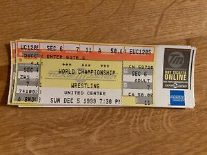 WCW Wrestling Full Ticket Bret Hart Goldberg Sting Ric Flair 12/5/1999 Chicago