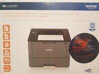 Brother HL-L5000D Duplex speed Laserdrucker Drucker 40Seit. USB + XL kompa.Toner