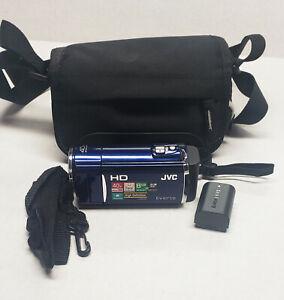 JVC Everio GZ-HM50 GZ-HM50AU HD Camcorder - BLUE - 046838045509 16GB Card Includ