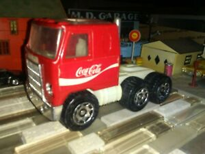 """Vintage Buddy L Red Mack Truck Semi Tractor Cab only 3.5"""" high 5.5"""" long Japan"""