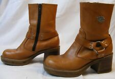 Women's Vtg. Harley Davidson Boots Size 6 USA  Brown Leather Riding 81288