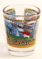 NORTH CAROLINA STATE WRAPAROUND SHOT GLASS SHOTGLASS