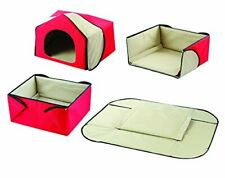 Convertible 4 In 1 Indoor Pet House, Bed, Lounge, and Play Mat for Dogs and Cats