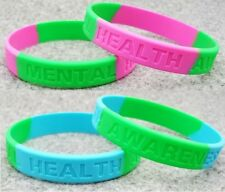 mental health awareness Medical Alert Silicone Wrist Band Bracelet charity adult