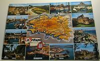 France La Bretagne Map Multi-view - posted 1982