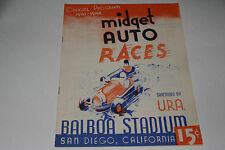 Midget Auto Races Program, San Diego Balboa Stadium, October 29 1947, Original