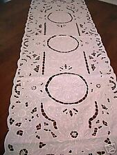 """NEW Hand Embroidery Table Runner 18x54"""" ~Long~"""