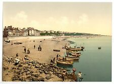 3 Victorian Views of Exmouth Promenade Beach Budleigh Station Repro Old Photos
