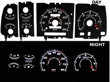 91-94 Ranger w/RPM Black/White Indiglo Glow El Gauges