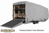 Goldline RV Trailer Toy Hauler Cover Fits 14-16 Foot Grey