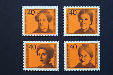 GERMANY 1974 WOMEN IN POLITICS SET MNH