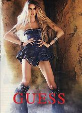 PUBLICITE ADVERTISING  2010     GUESS haute couture  jupe & cuissardes en jean