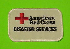 AMERICAN RED CROSS DISASTER SERVICES ( WHITE )  PATCH  FREE SHIPPING!!
