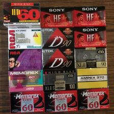 New listing Lot Of 17 New Blank Audio Cassettes Tdk Sony Memorex Ampex Rca Free Shipping