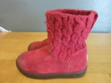 Uggs Infant sz 9 Raspberry Knit and Suede