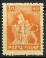 Fiume 1919 Sass. 53 Nuovo ** 100% Posta Fiume