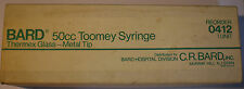 Vintage Large BARD 50cc Glass Toomey Syringe in Original Box *LOOK*
