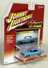 JOHNNY Lightning 1/64 SCALA 1967 Ford Fairlane 500 XL Blu Modello Diecast Auto
