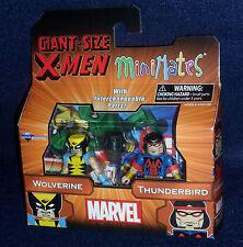 Marvel MiniMates Series 68 Giant-Size X-Men WOLVERINE & THUNDERBIRD Figure 2 PK